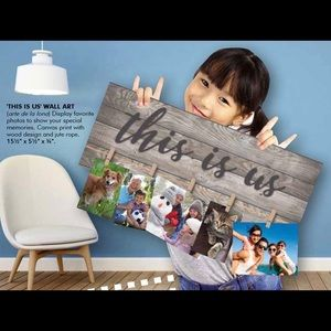 """This Is Us"" Wall Art Photo Canvas"